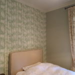 Carta da Parati Farrow & Ball Bamboo, pareti Farrow & Ball color Mizzle